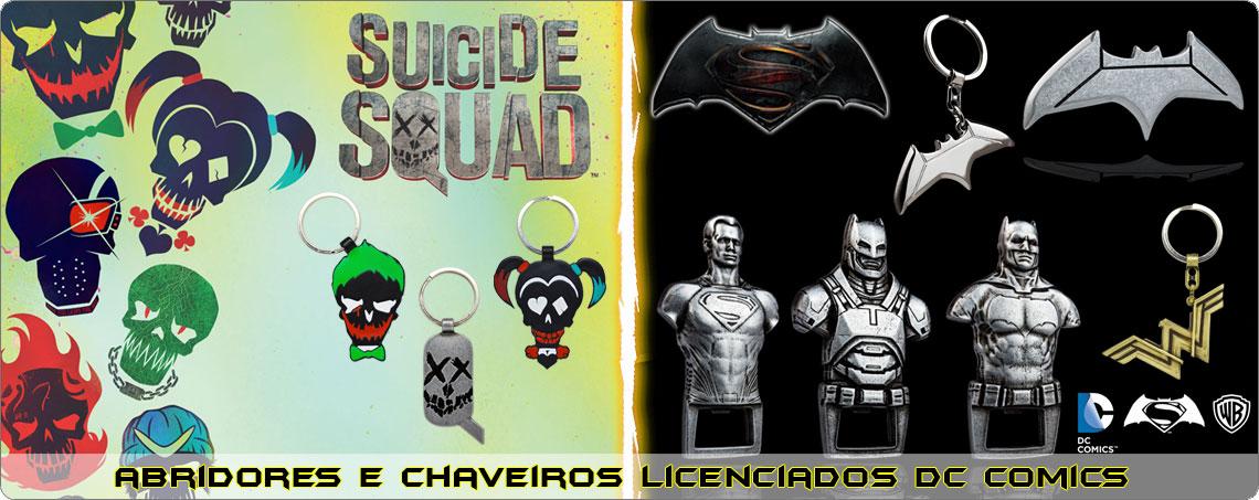 Chaveiros e Abridores DC Comics