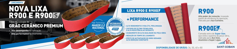 Nova Lixa Norton R900S Grão Cerâmico