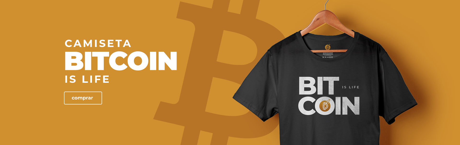 Camisa Bitcoin is Life