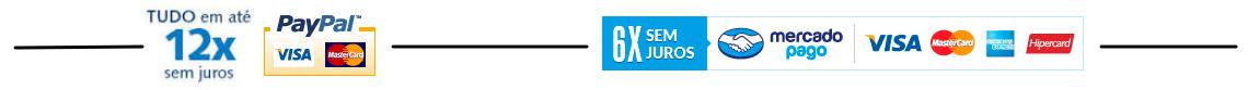 12x sem juros (paypal / mercadopago)