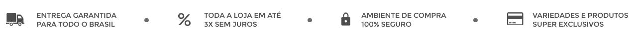 Tarja 1 entrega e parcelamento 3x