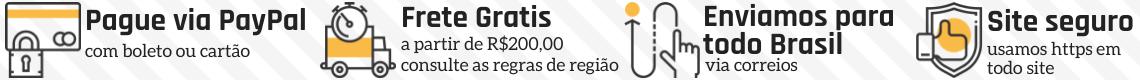 Forma de pagamento segura e entrega em todo brasil
