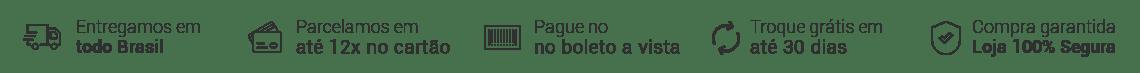 Banner Tarja (frete, parcelamento e seguro).