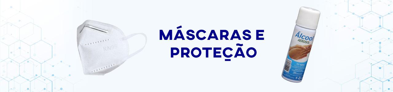 banner máscaras e proteção