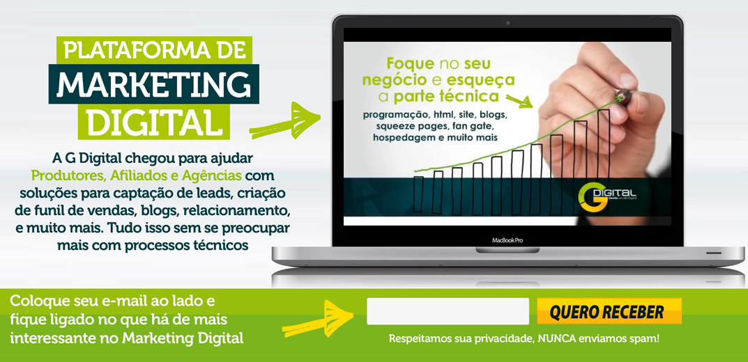 G Digital - Plataforma de Marketing Digital