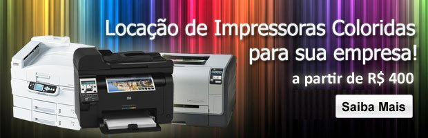 Locação de impressoras coloridas
