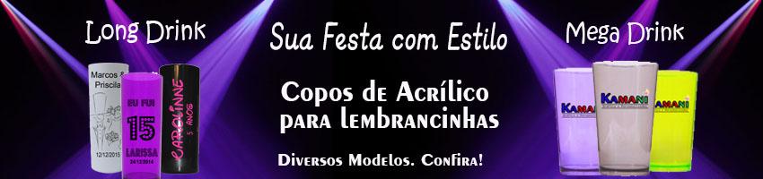 Banner - Copos Acrílico