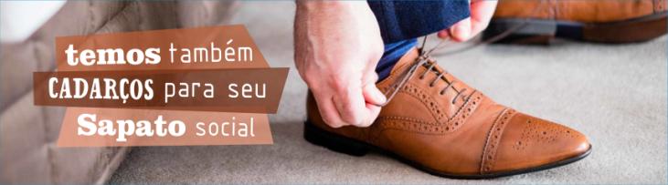 Cadarço Sapato Social Marrom - Preto