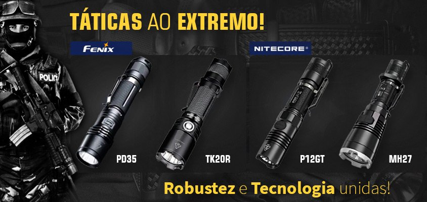 lanternas taticas fenix nitecore