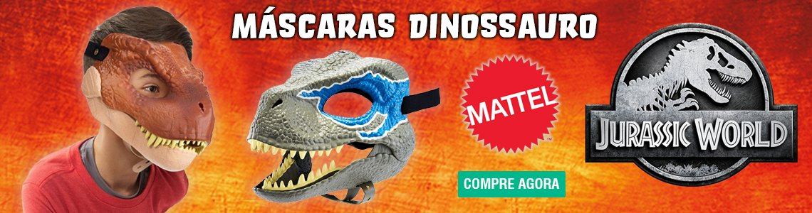 mascara dinossauro
