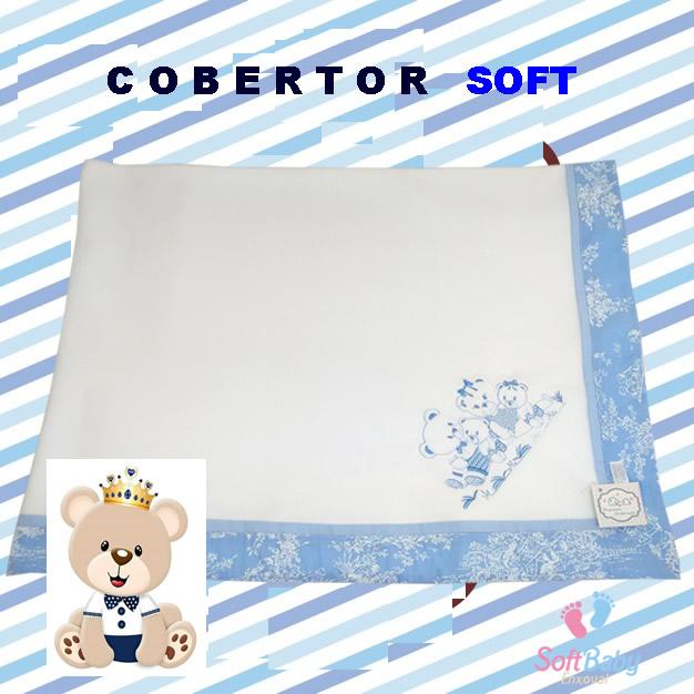 cobertor soft azul