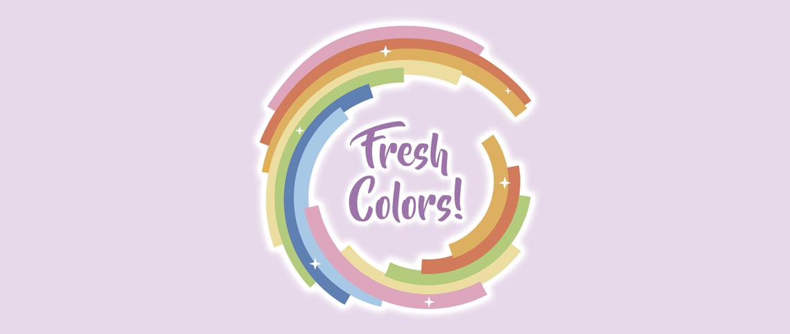 Coleção Fresh Colors