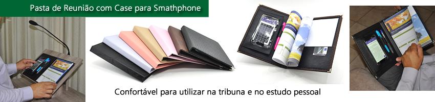 Pasta de Reunião com Case para Smartphone