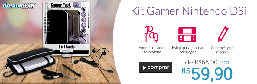 Games - Kit Acessórios Nintendo DSi