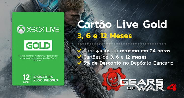 Cartão Live Gold - Gears of War 4