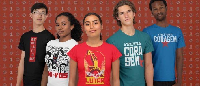 camisas novas com jovens