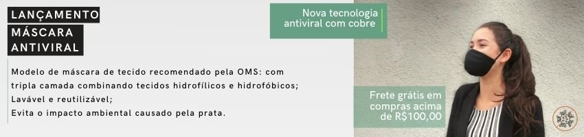 Máscaras Antivirais vitrine