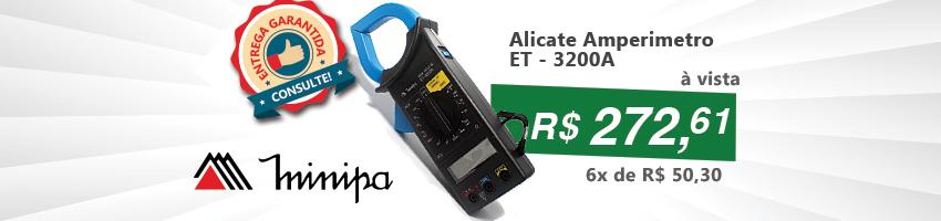 Alicate Amperimetro ET - 3200A