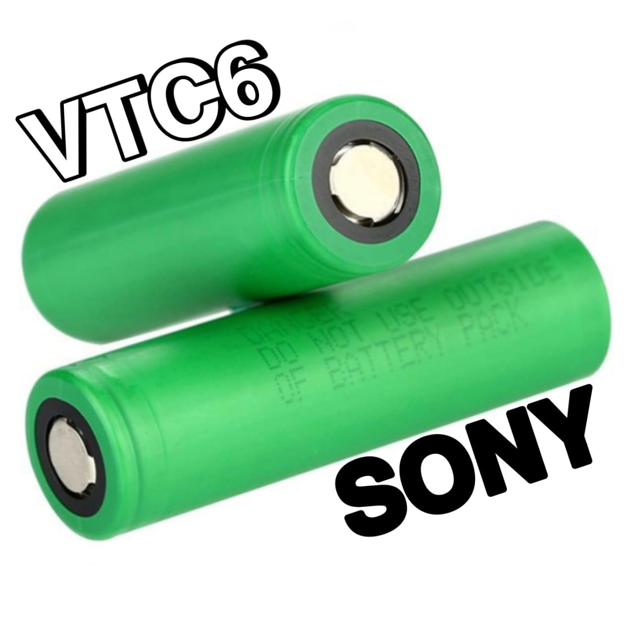 Bateria (18650) 3000mAh VTC6 Flat Top 30A High-Drain - SONY