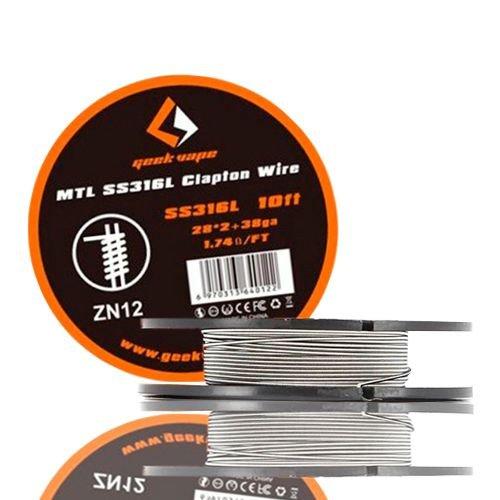 Fio p/ Resistência MTL SS316L Clapton Wire - Geekvape