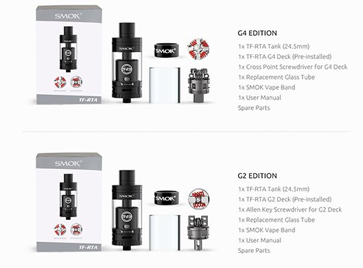 Atomizador TF-RTA - 4.5 mL - Smok