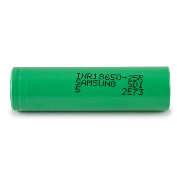 Bateria 18650 Li-Ion INR 18650 25R 3.6V 2500mAh High Drain 20A Flat Top - Samsung