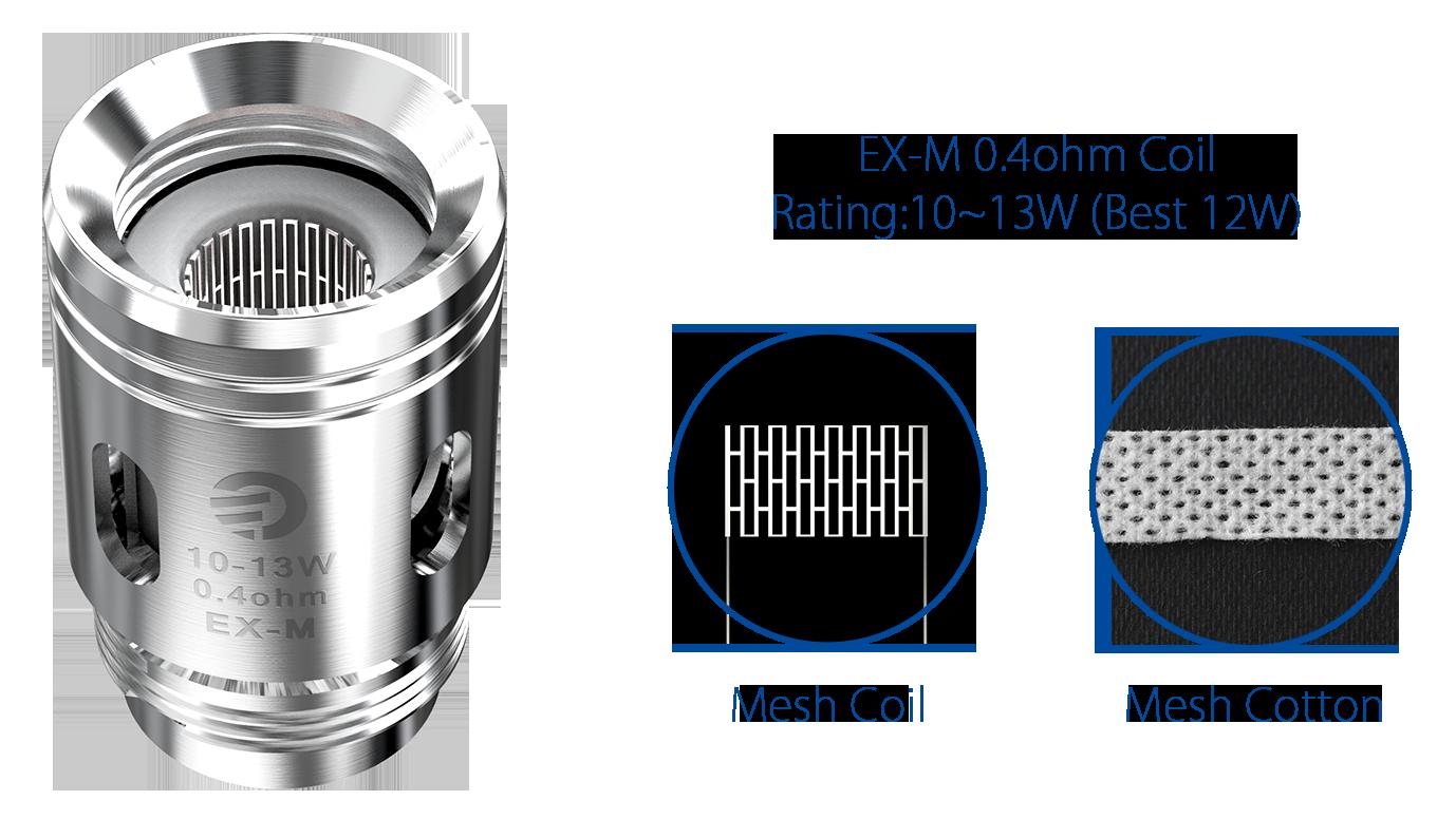 Bobina Coil Reposição (Resistência) p/ Exceed Grip - EX-M - Joyetech®