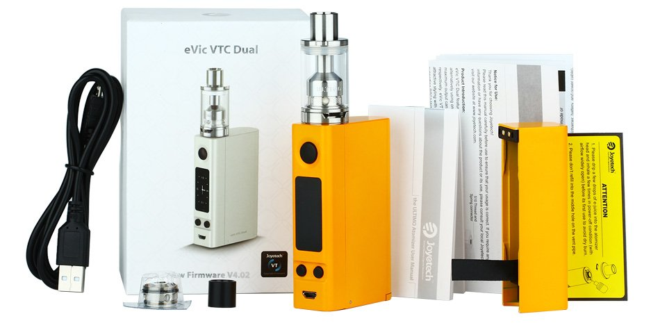 Kit eVic VTC Dual 75W - 150W c/ Atomizador Ultimo - Joyetech™