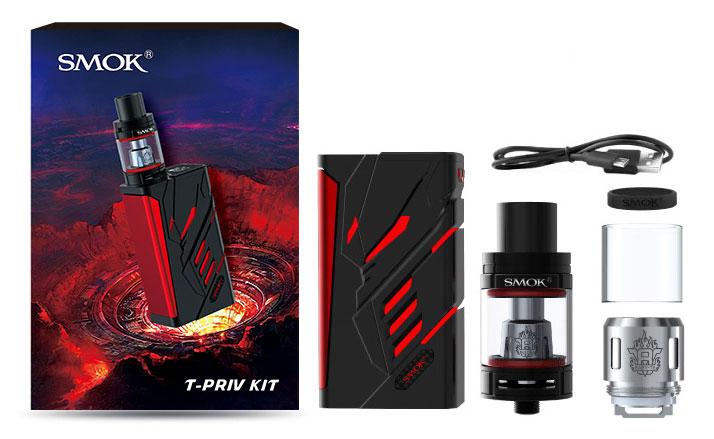 Kit T-PRIV 220W TC c/ Atomizador TFV8 Big Baby - Smok™ embalagem
