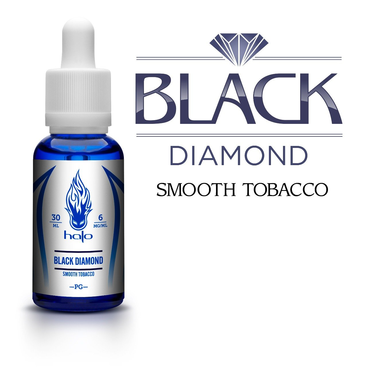 Líquido Black Diamond Smooth Tobacco - White Series  - Halo Cigs