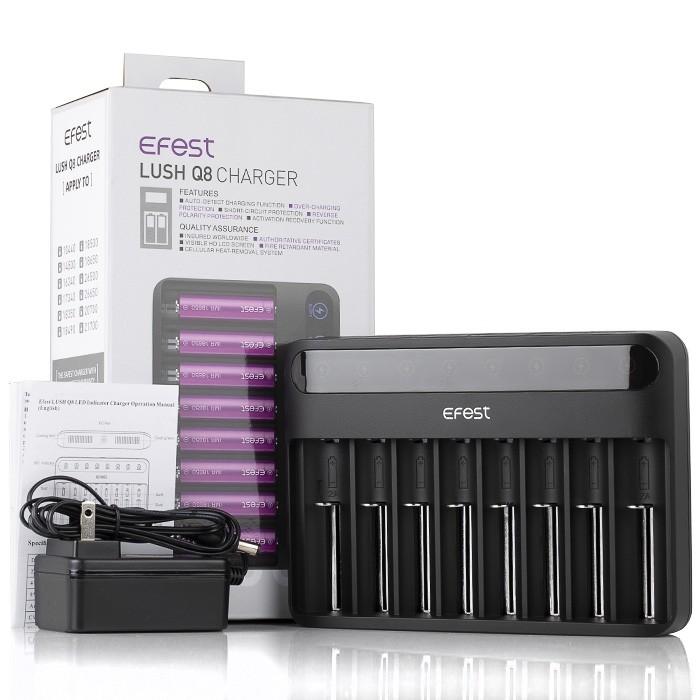 Carregador Inteligente de Baterias LUSH Q8 LED - EFEST