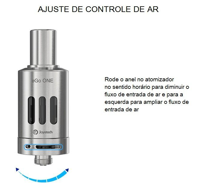 Kit Cigarro Eletrônico eGo ONE 1100/2200 mAh - Joyetech™