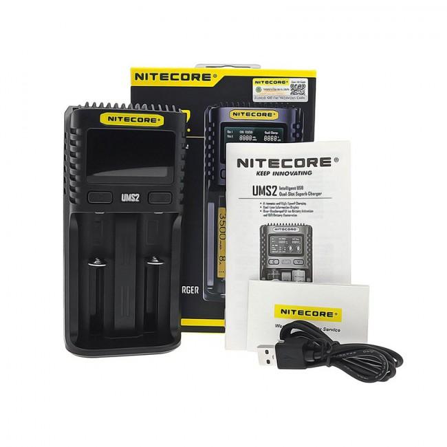 Carregador Baterias UMS2 da Nitecore