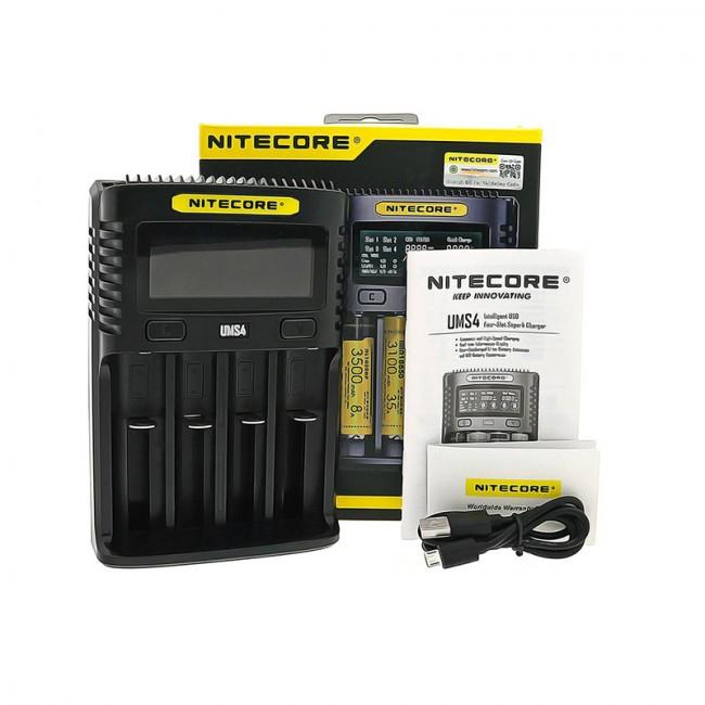 Carregador Baterias UMS4 da Nitecore