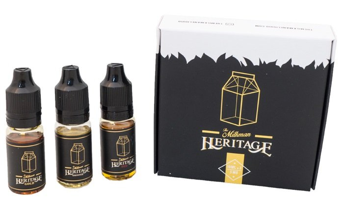 Kit Amostra Líquidos Heritage - The Milkman eLiquid - 3x10ml - 30ml