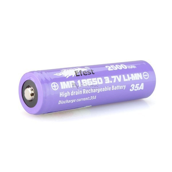 Bateria Efest® Purple High Drain 18650 2500mAh 35A