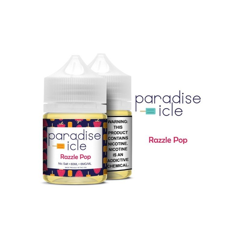 Líquido Razzle Pop - Sub-Ohm Salt Nic - Paradise-icle