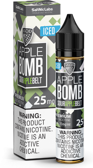 Líquido Apple Bomb ICED - SaltNic / Salt Nicotine - VGOD SaltNic