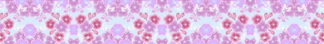 Papel de Parede Floral Com Borboletas