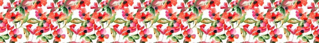Papel de Parede Floral Com Efeito Pintado a Mão