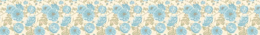 Papel de Parede Floral Com Flores Azuis Claras