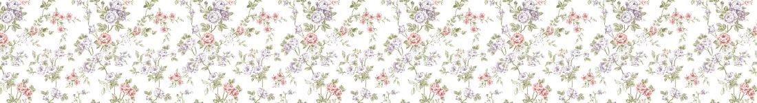 Papel de Parede Floral Fundo Branco
