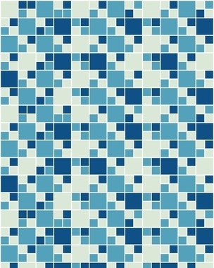 Papel de Parede Pastilhas em Tons de Azul