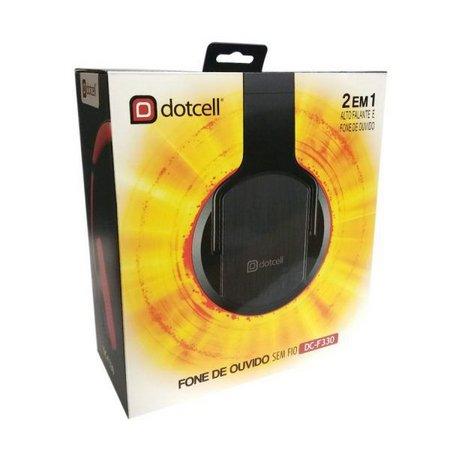 Fone de Ouvido Dois em Um Bluetooth Headfone Auto Falante Sem Fio Dotcell DC-F330