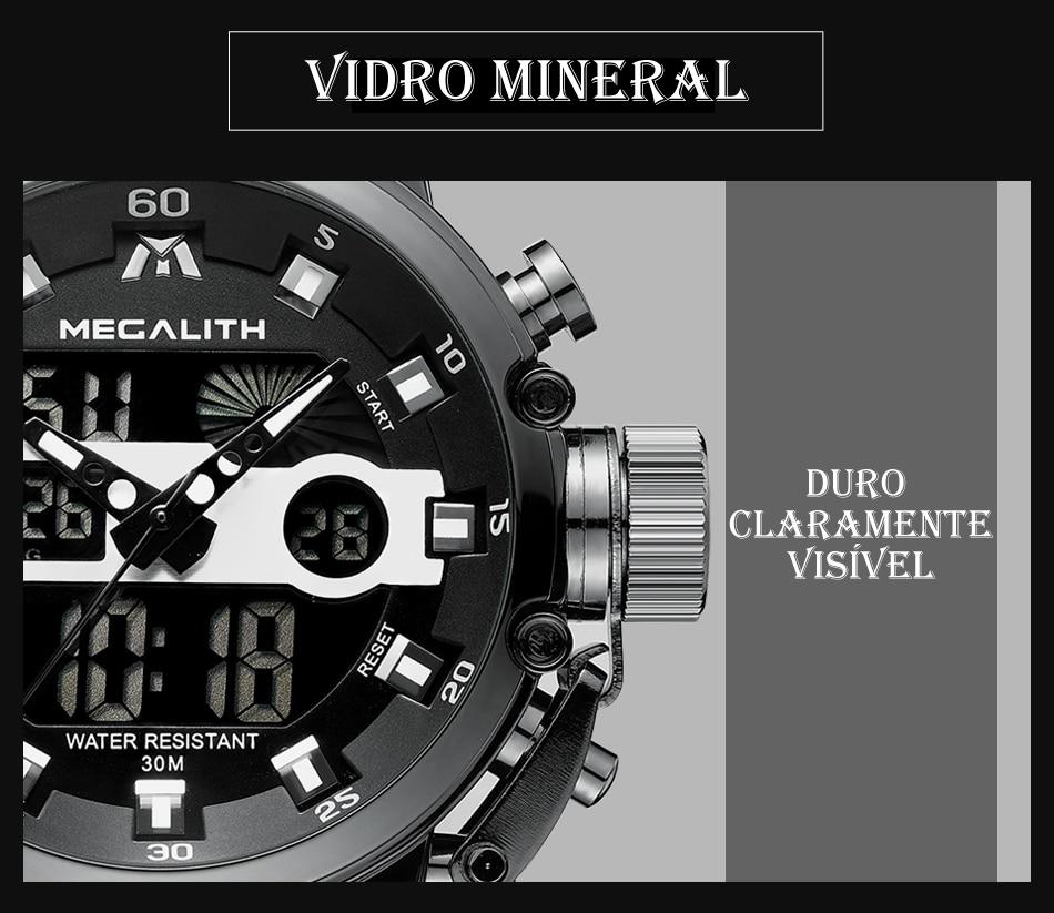 Relógio Megalith 8051 Pulseira de Couro-4