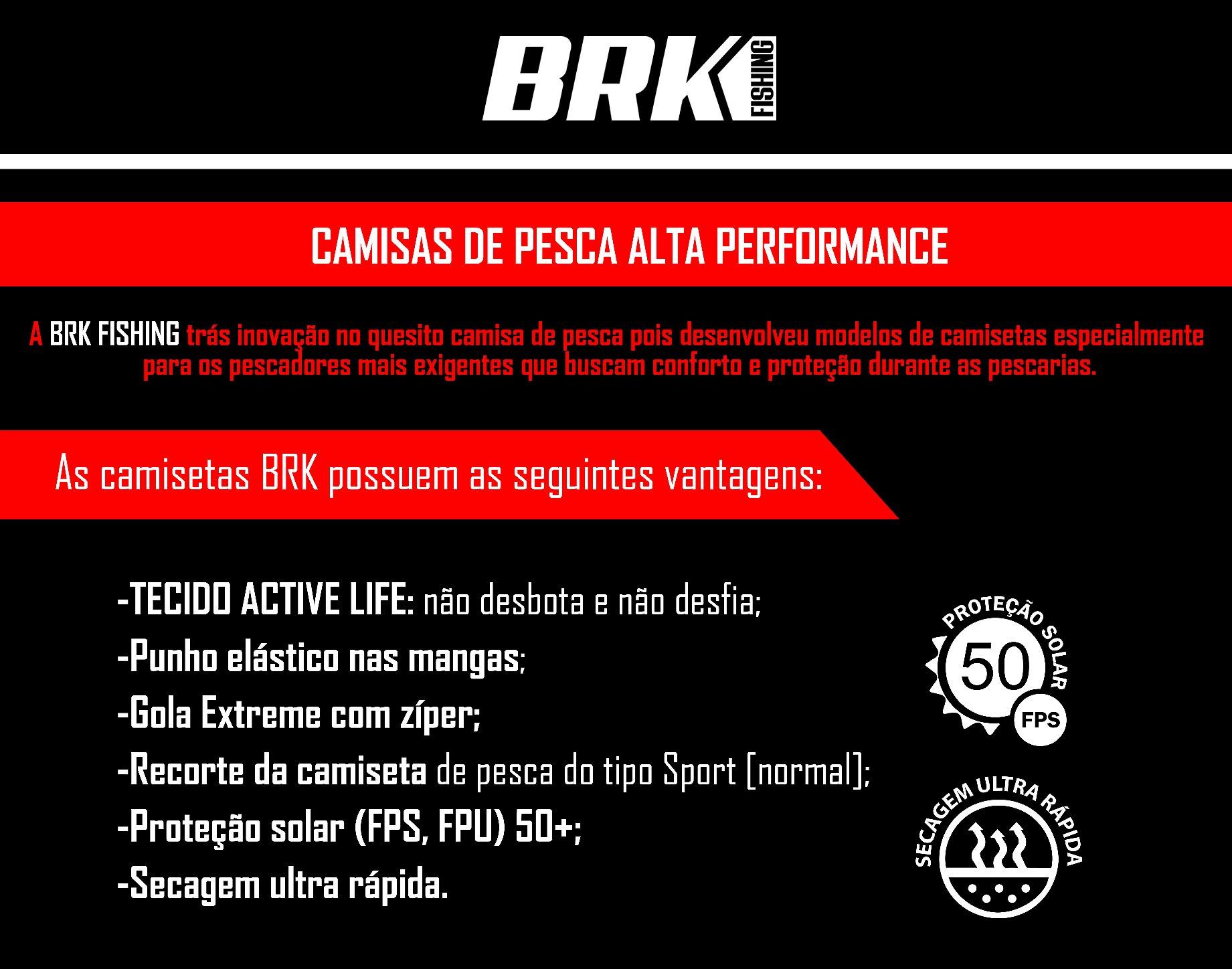 34c6197137ae4f Camisa de Pesca Brk Dourado Rei do Rio 1.0 com fps 50+ - Camisa de ...