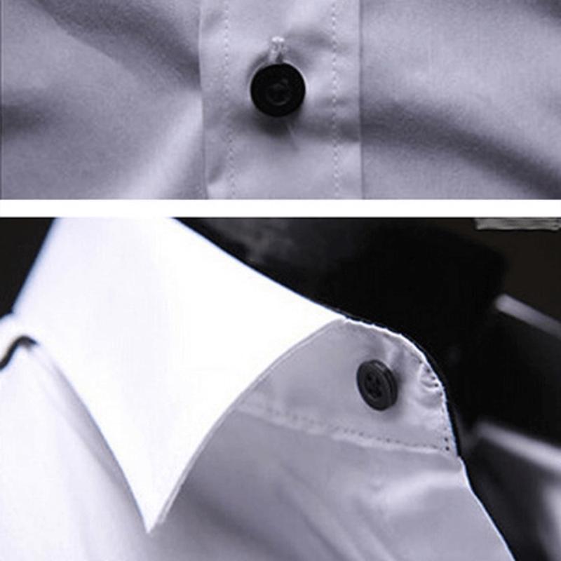 Camisa Social Masculina Slim Fit Luxo Estilosa Detalhes