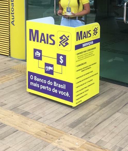 Adesivo para balcão de atendimento Banco do Brasil