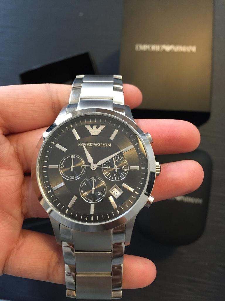 c07dda2b6c5 Relógio Masculino Emporio Armani AR2460 Prata - Mimports - Produtos ...