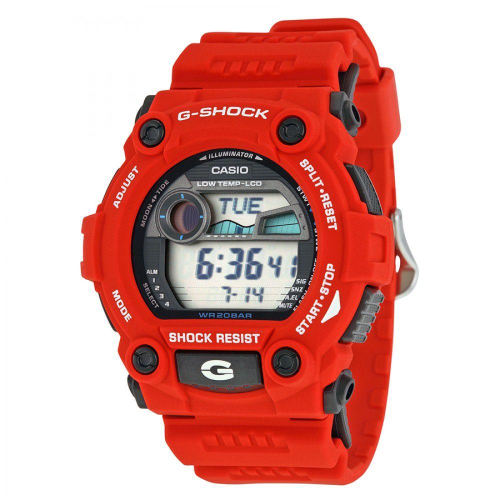 65cd2891e7b Relógio Unissex Casio G-Shock Digital G-7900A-4DR Vermelho - Imagem ...